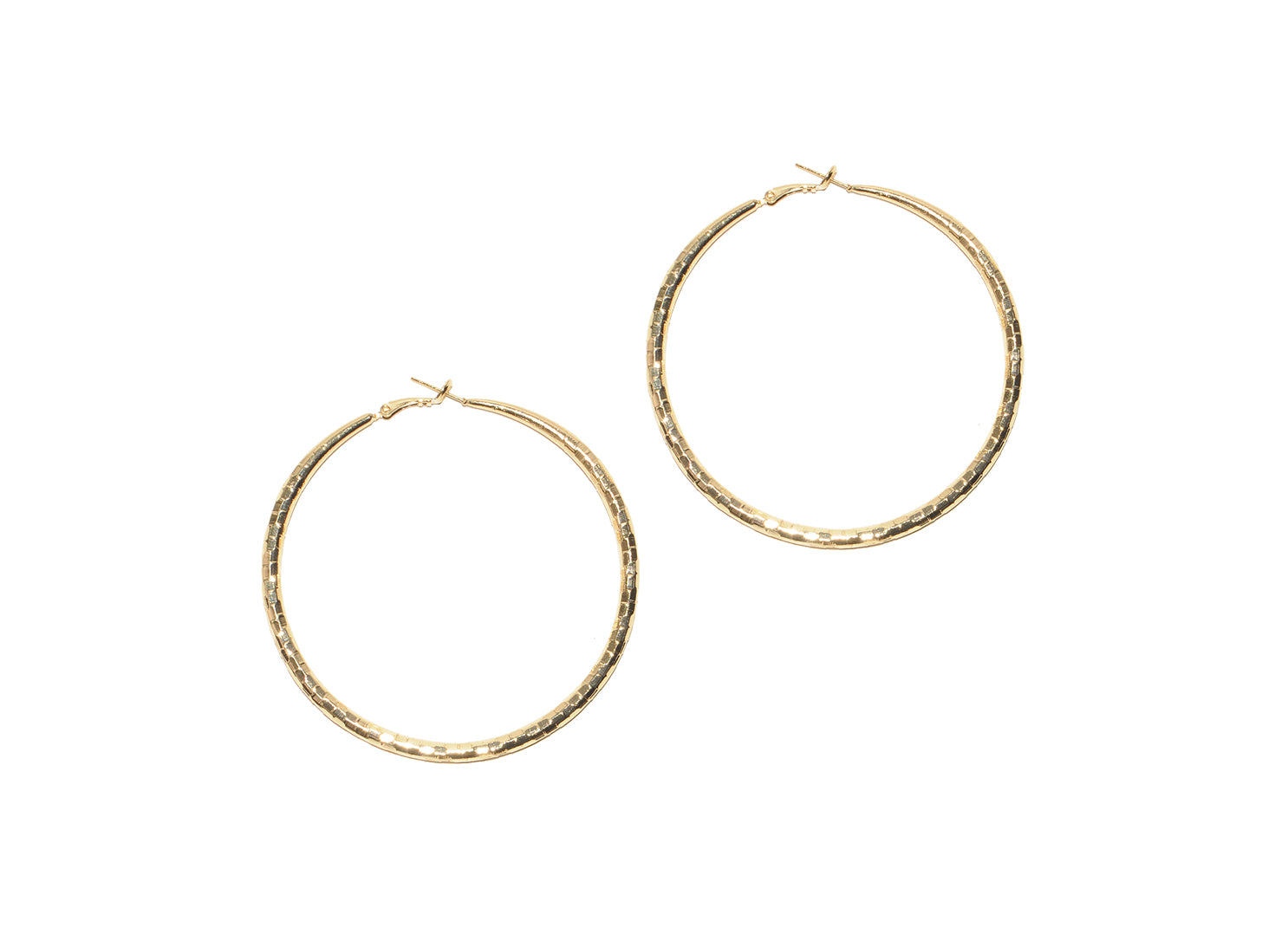 Gold Disco Hoops