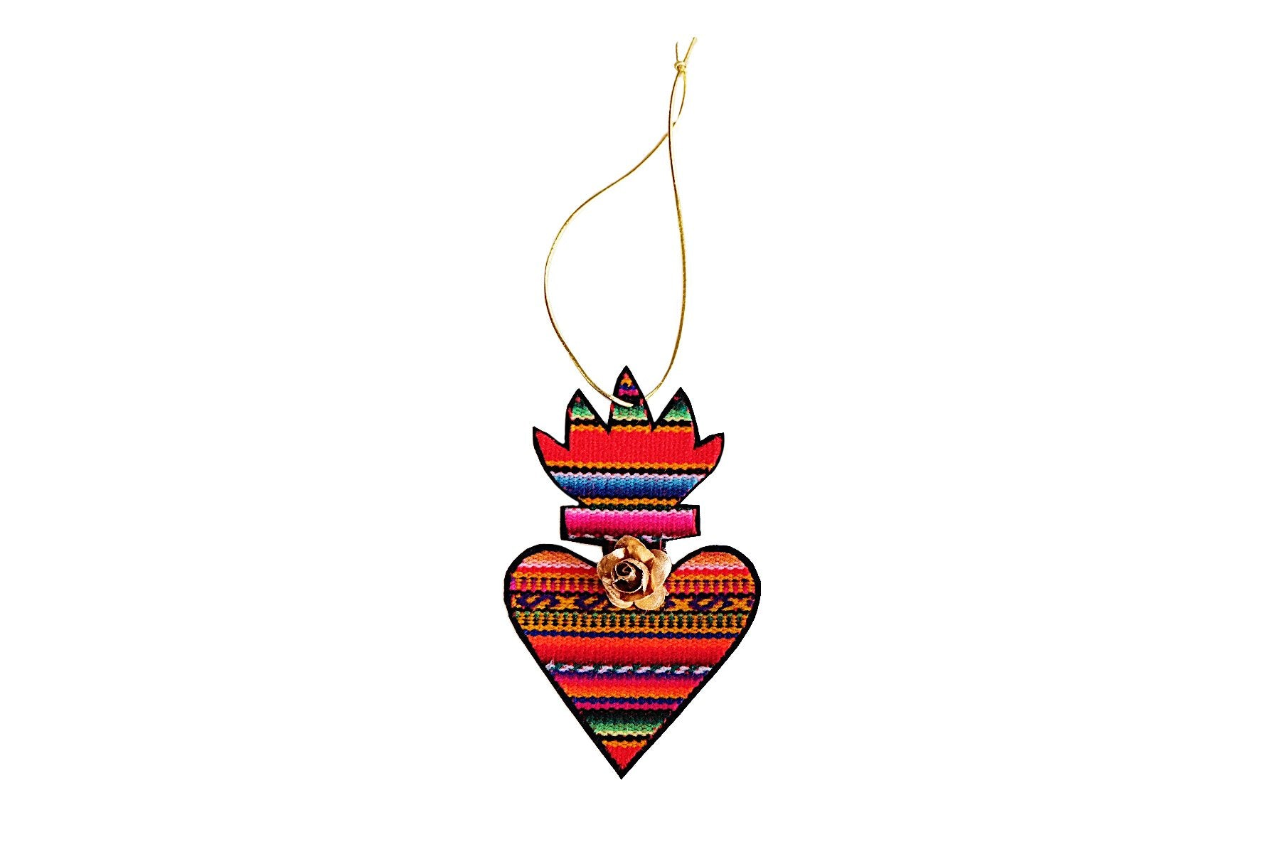 Zarape Sacred Heart Ornament