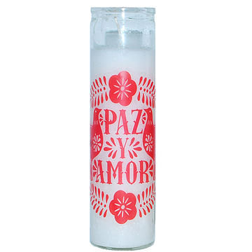 Paz Y Amor Tall Candle