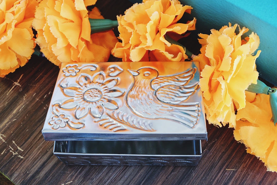Tin Pajarito Jewelry Box