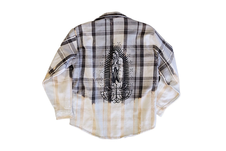 Vintage Virgencita BM Cloudy Gray Flannel