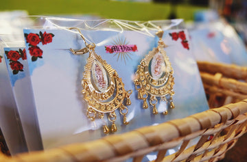 Virgencita Drop Dangle Earrings