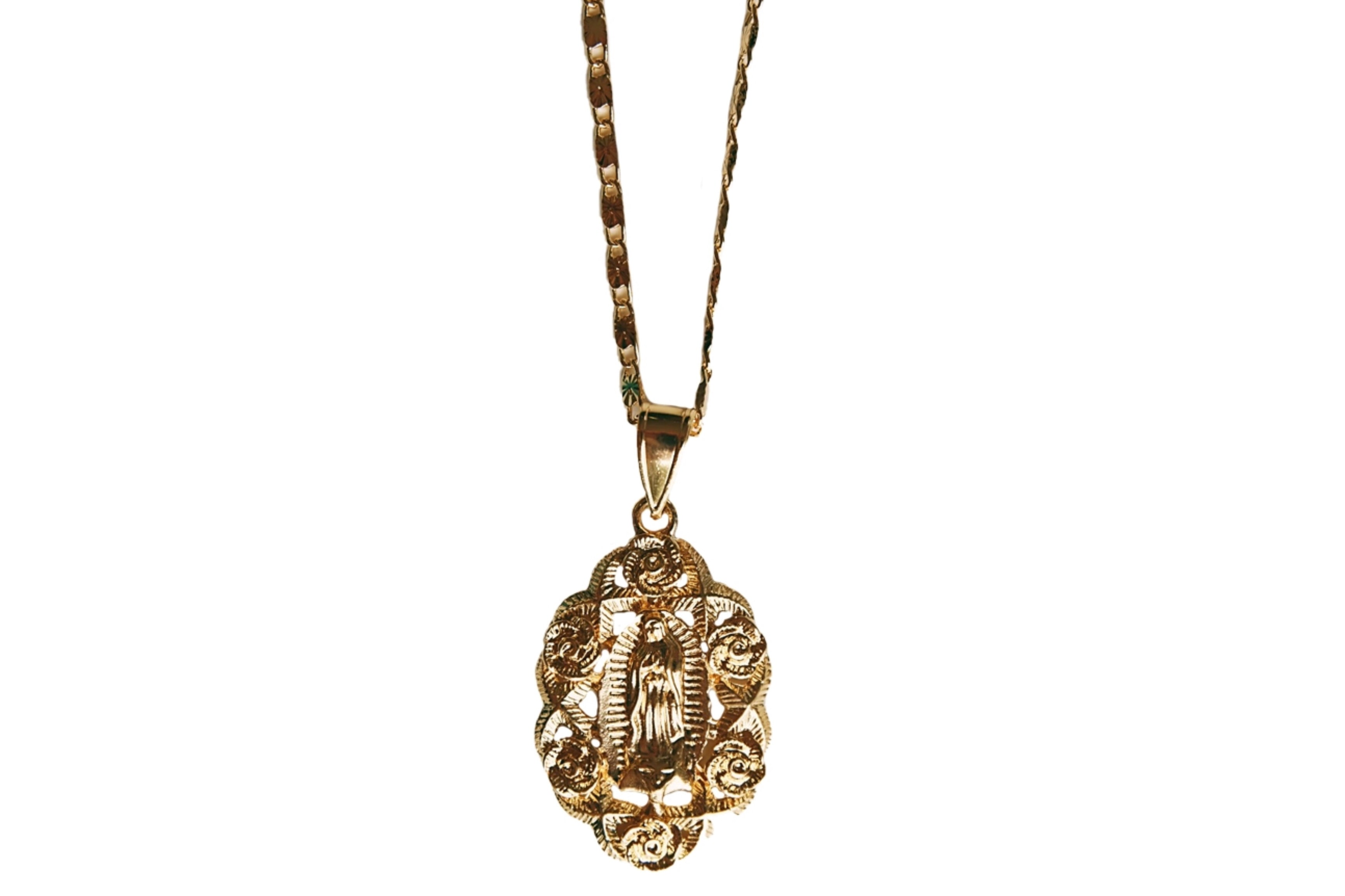 Virgencita Rose Pendant Necklace