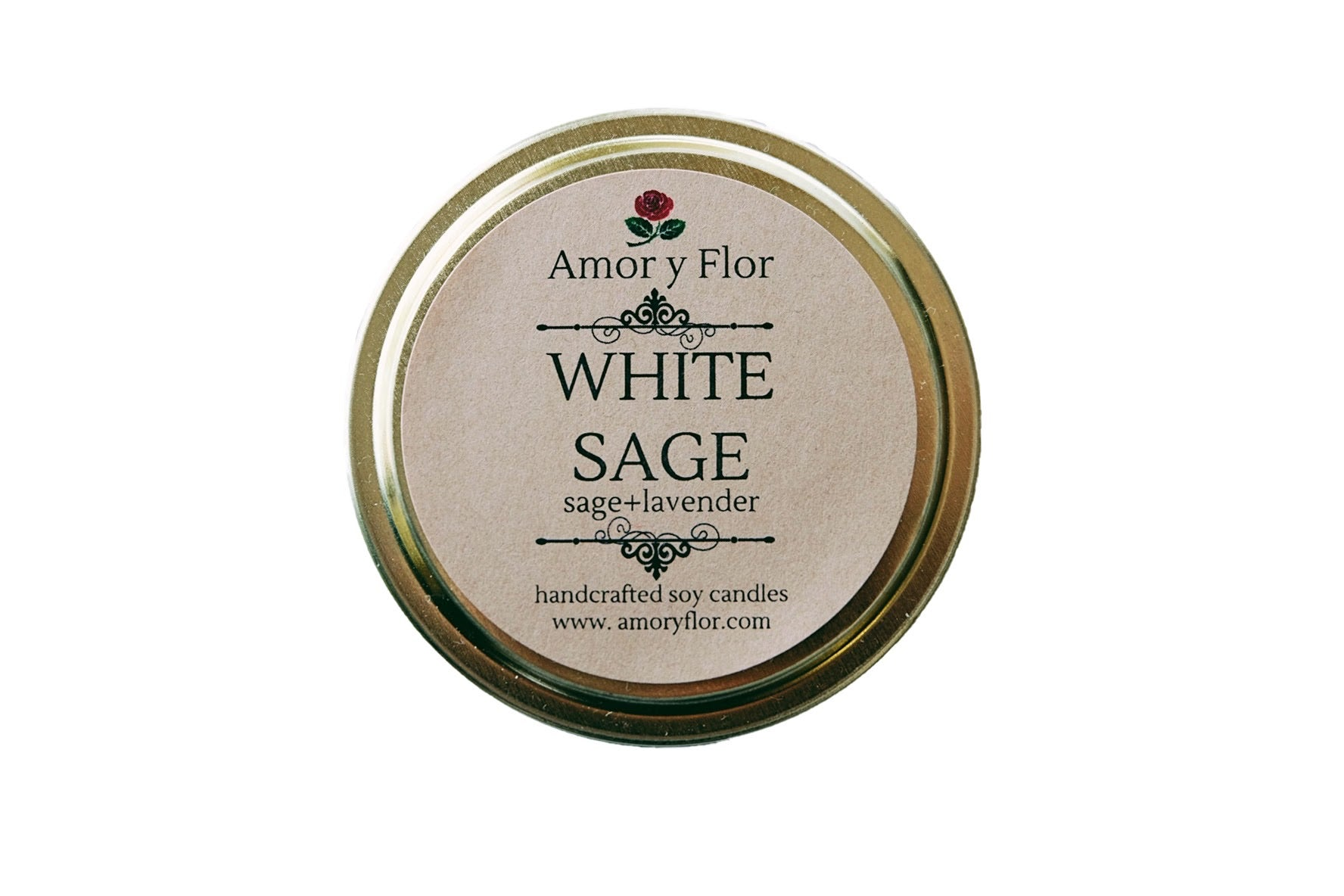 White Sage Tin Candle