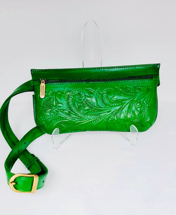 Tooled Leather Fanny Pack