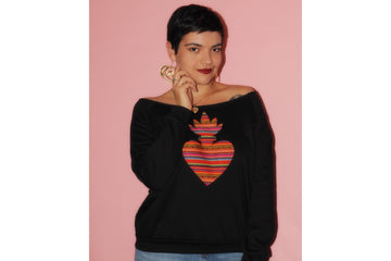 Sacred Heart Wide Neck Sweatshirt