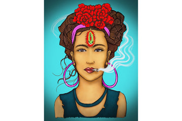 Smoking Frida Print