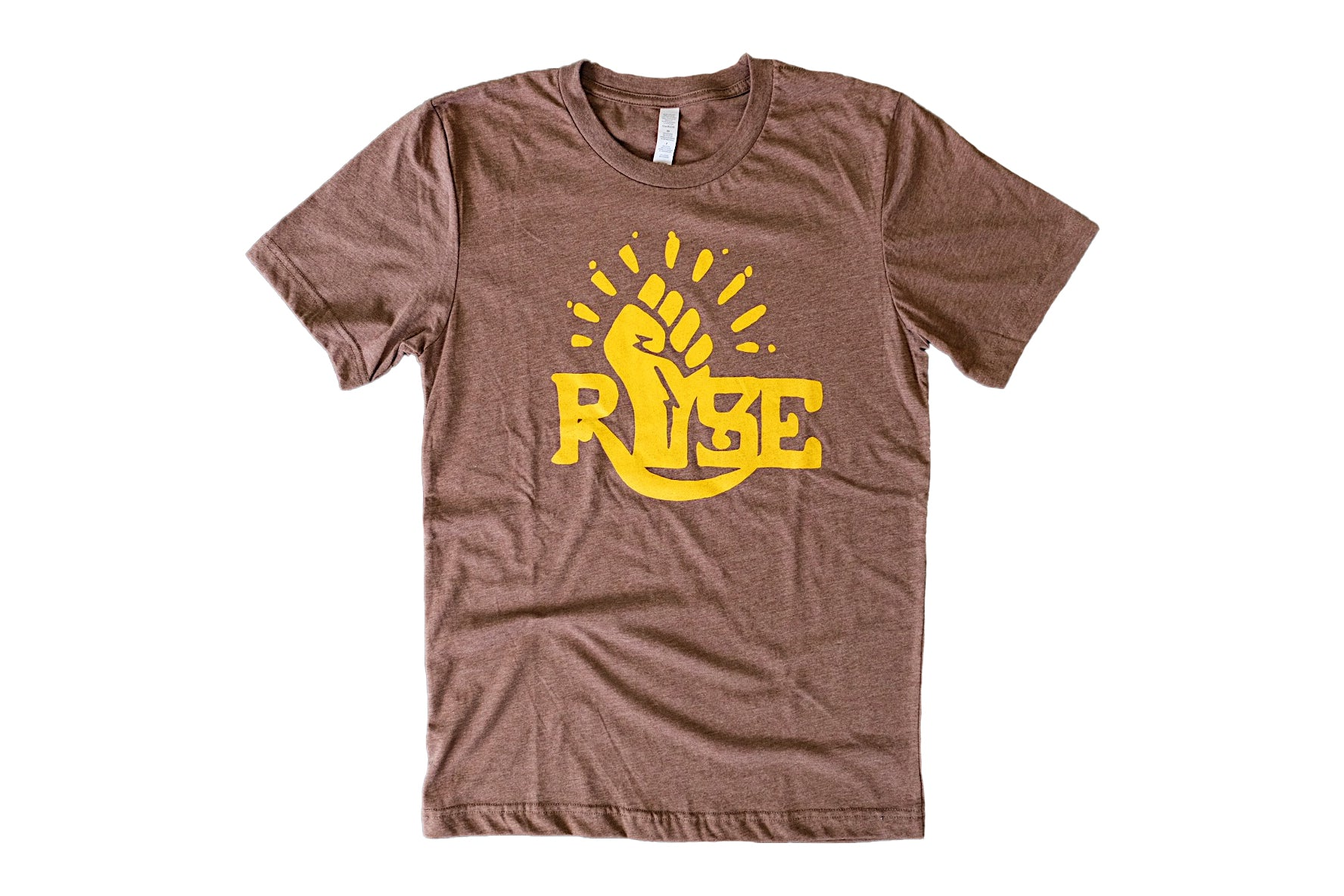 Rise Up, Fists Up Brown Tee