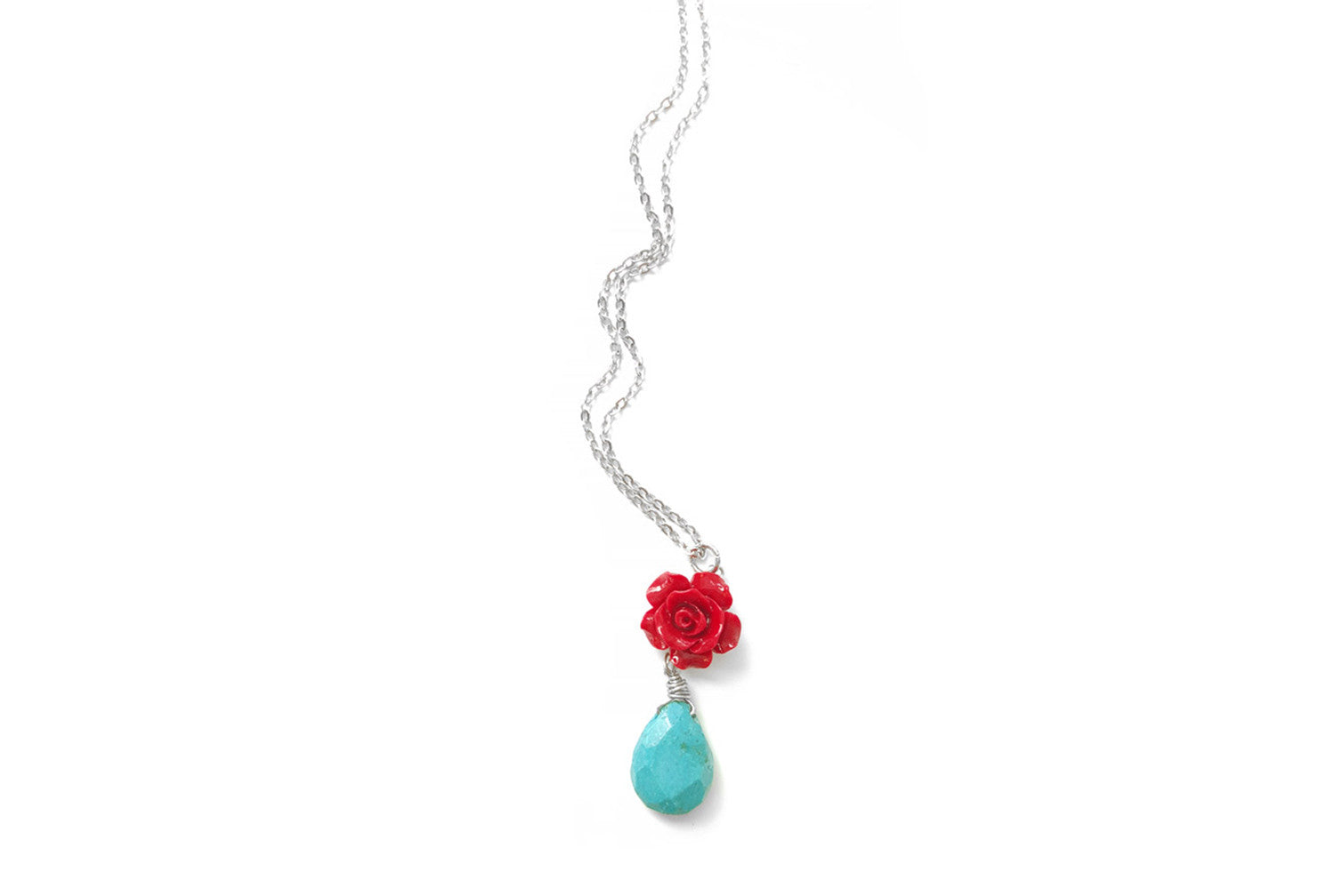 Rose Turquoise Necklace