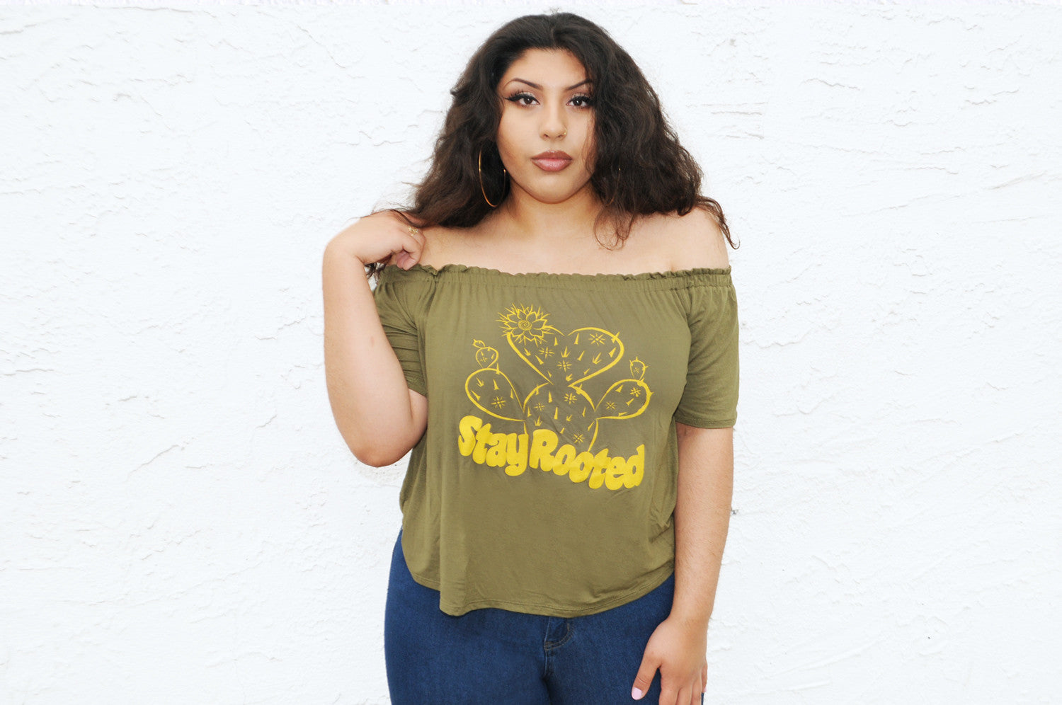 Stay Rooted Off-the-Shoulder Blouse