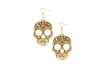 Sugar Skull Diosa Dangle Earrings