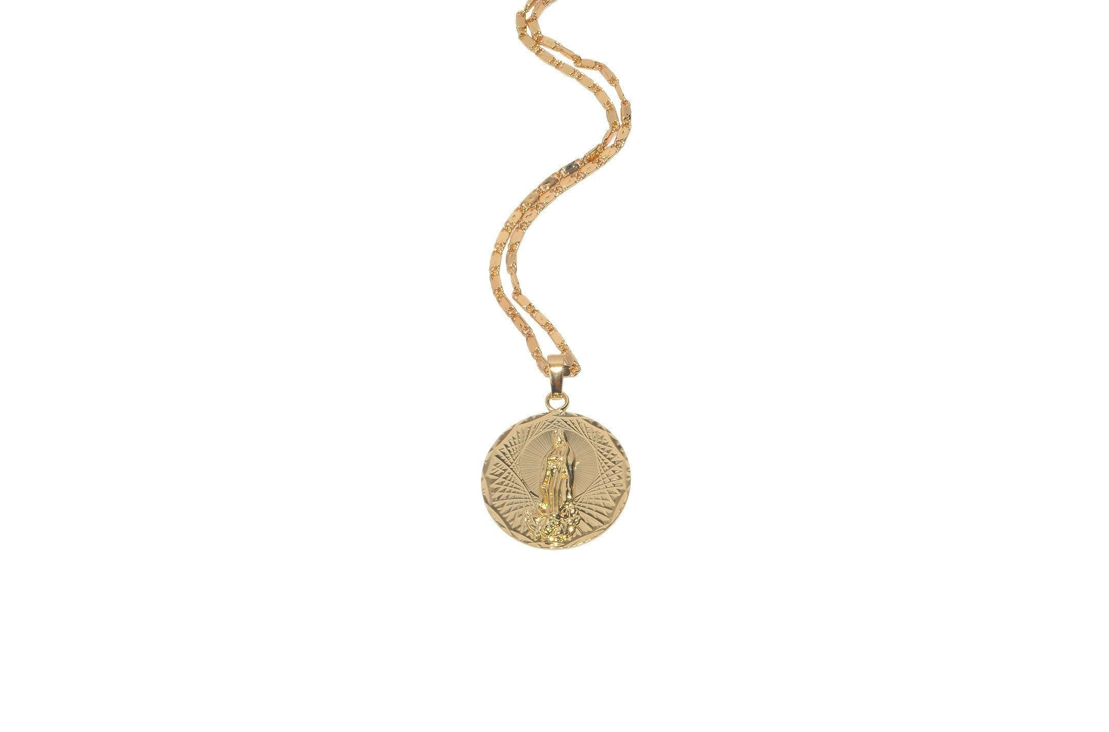 Virgen Medallion Necklace