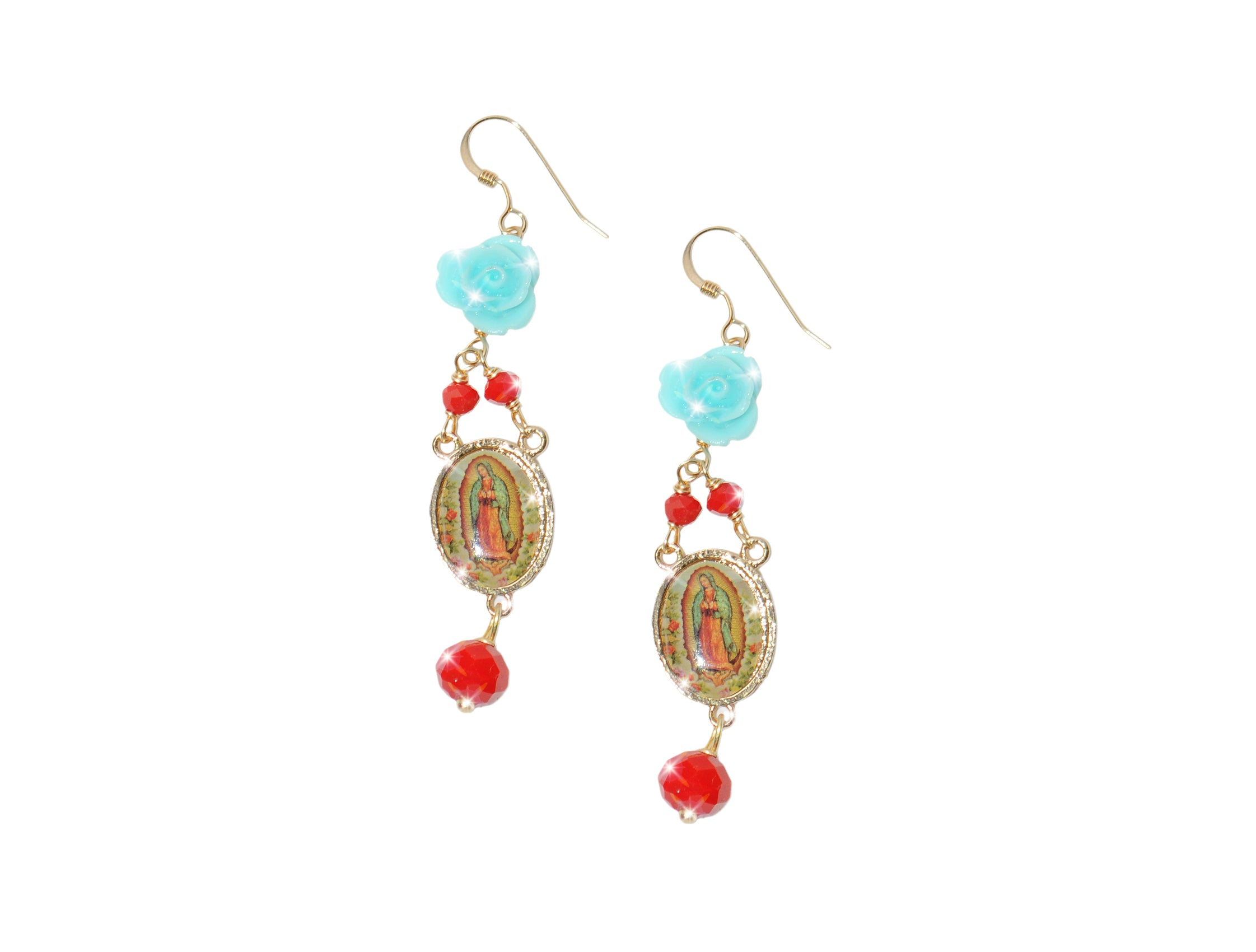 Lady Protection Beaded Earrings