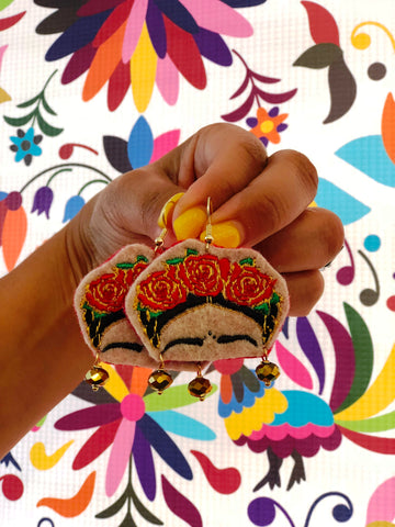 Frida Vida Embroidered Earrings