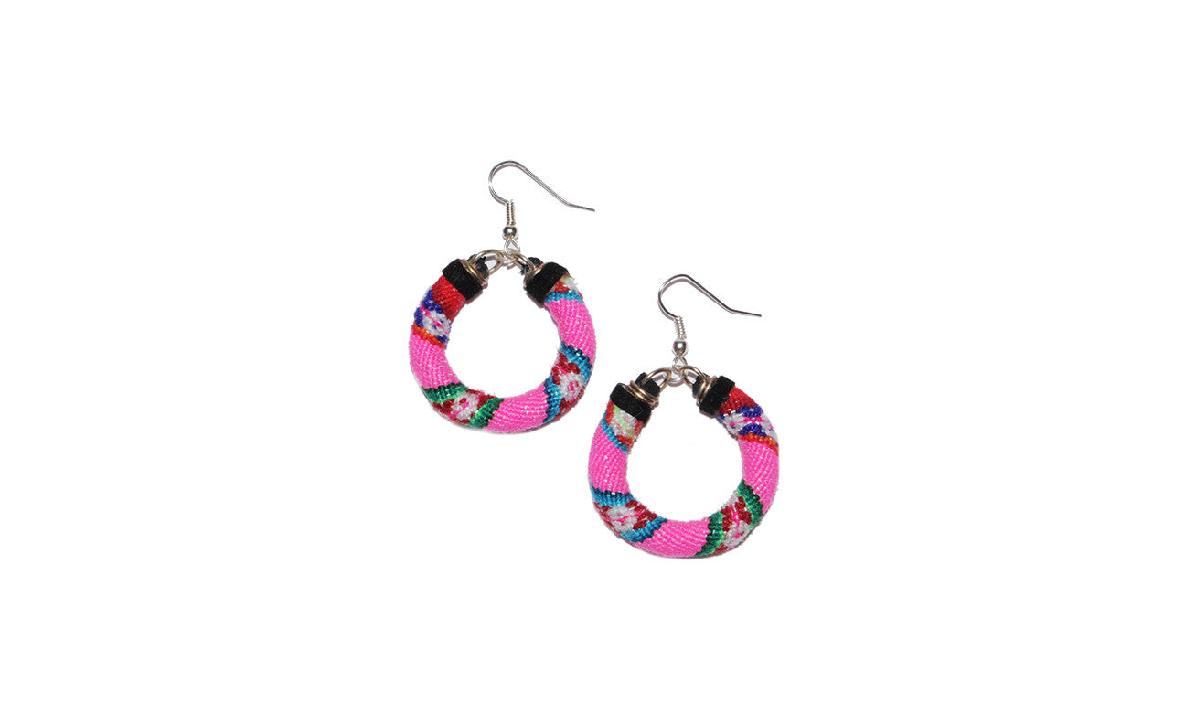 Zarape Hoop Earrings