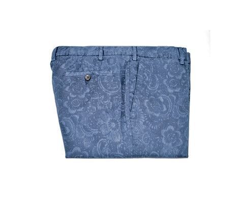 Blue Flower Pants