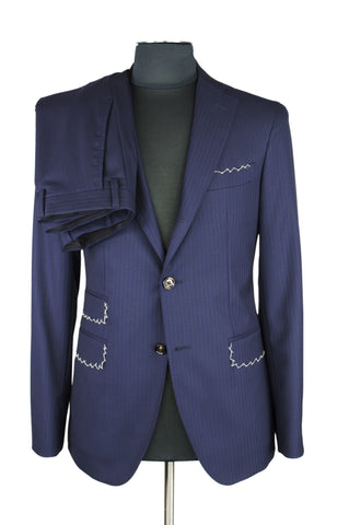 Blue Stiped Suit