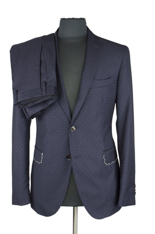 Doted Blue Suit
