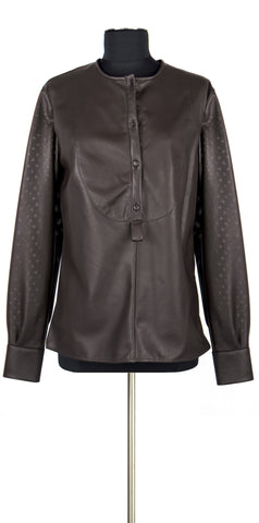 Leather Shirt Brown