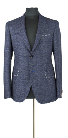 Blue and Dark Blue windowpane