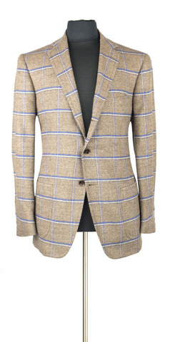 Beige and Blue windowpane