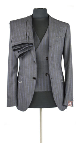 Grey Pinstripe Three Piece