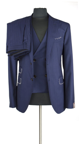 Pinstripe Blue Suit