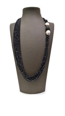 Black Small Pearl Necklace