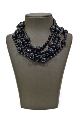 Black Large Pearl Necklace