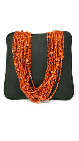 Orange Pearl Necklace