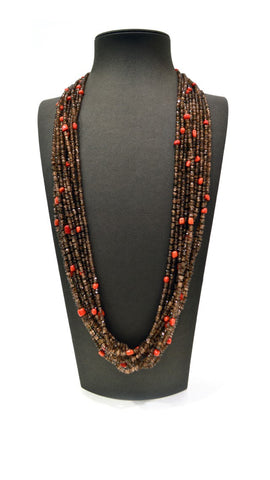 Brown Orange Necklace