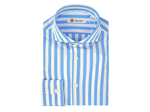 Stripe White and Blue Shirt