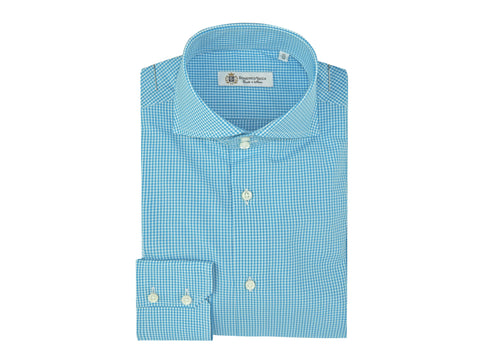 Light Blue Checkered Summer Shirt