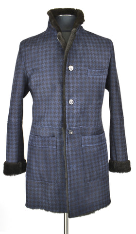 Blue Houndstooth Coat