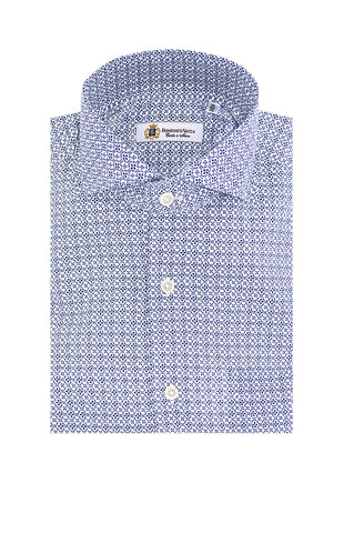 Design Pattern Blue Shirt