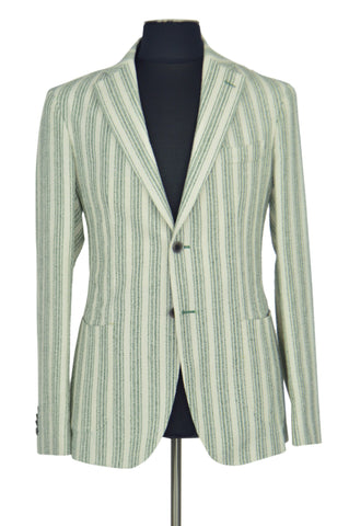 Light Green Striped Spring Jacket