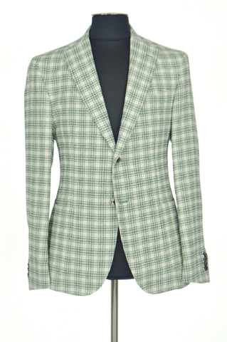 Light Green Striped Squared Jacket