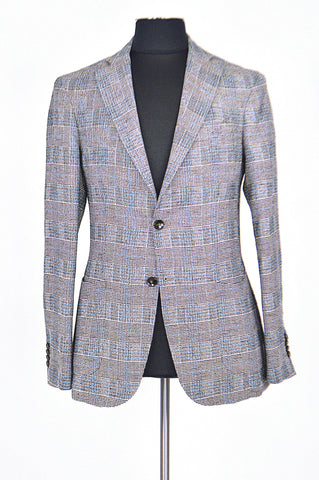 Light Blue and Brown Stripes Spring Jacket