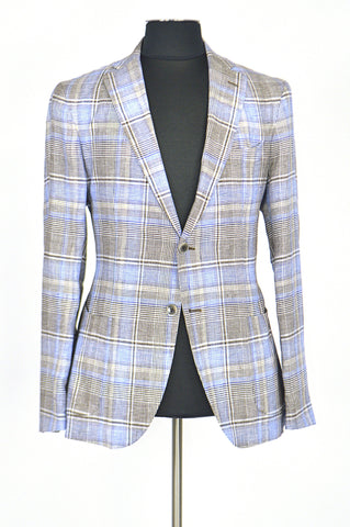 Brown and Blue Stripes Spring Jacket