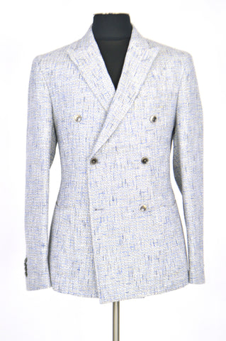 Light Grey with Blue Spring Jacket