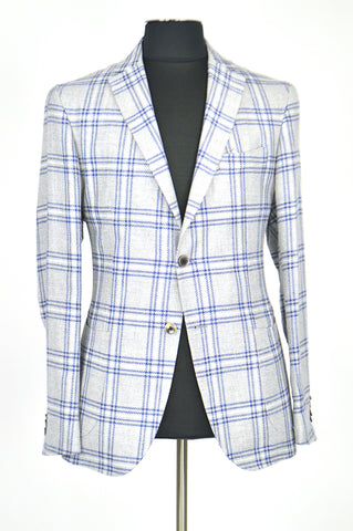Grey With Blue Stripes Spring Jacket