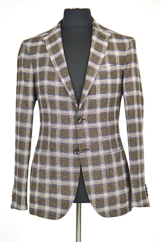 Brown Square Spring Jacket