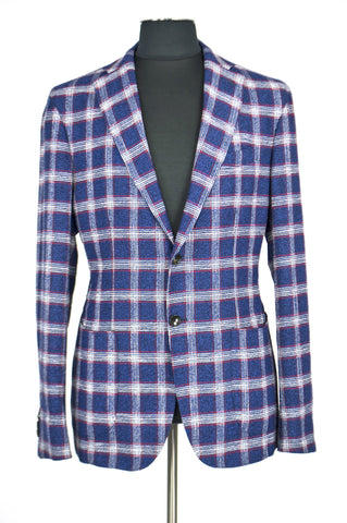 Blue Square Spring Jacket