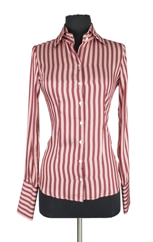 Pink and Red Stripe Blouse