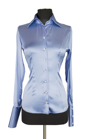 Soft Blue Blouse
