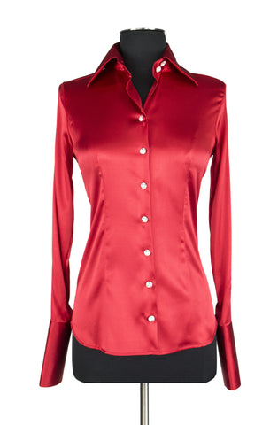 d7c9d30953cce Silk Blouse with Swarovski Crystal Buttons