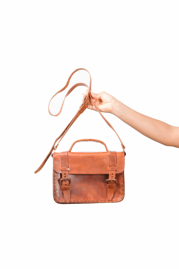 Mayan Gypsy - Rustic hand crafted leather satchel bag