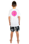 Kids T's - Okanui Boardriders White