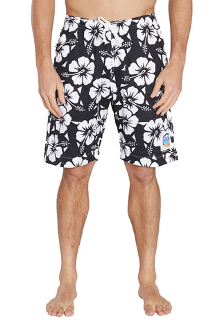 Boardies - Hibiscus Black