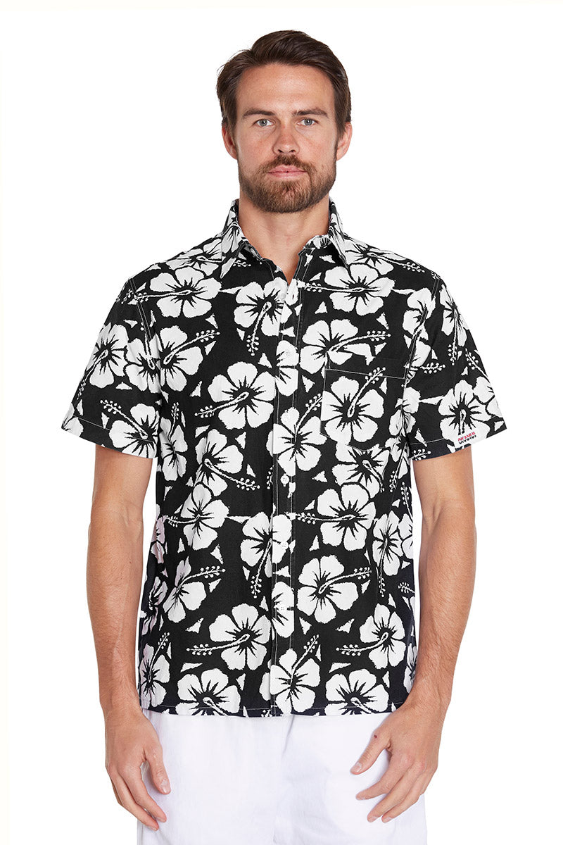 Classic Shirts - Hibiscus Black - NEW FIT